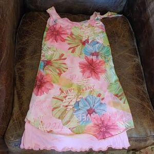 NWOT Parisian Girls Sleeveless Flower Dress